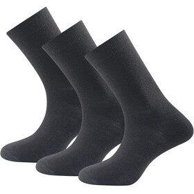 Devold Daily Light - Chaussettes - 3-Pack noir